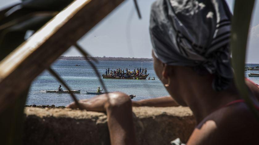 Pemba, um dos principais pontos de chegada de deslocados que fogem de ataques do Estado Islâmico. Foto: Ricardo Franco/Lusa