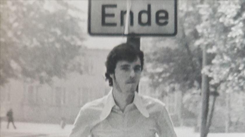 Peter Keup na juventude. Foto: DR