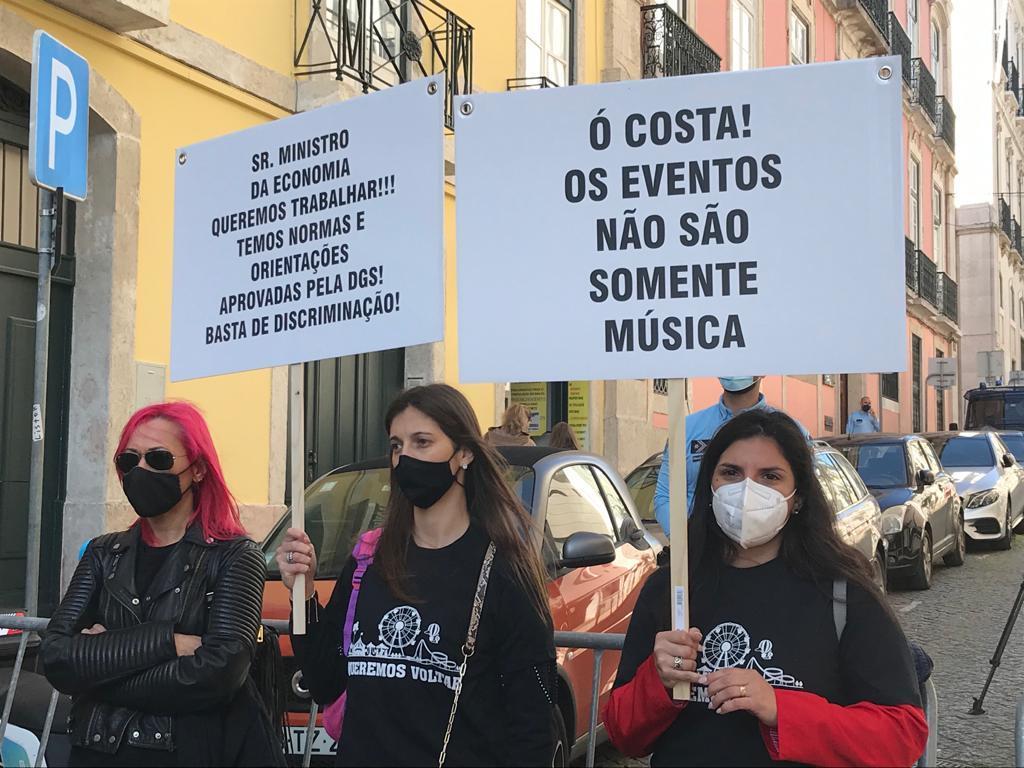 Empresários do setor da diversão itinerante protestam em Lisboa. Foto: João Cunha/RR