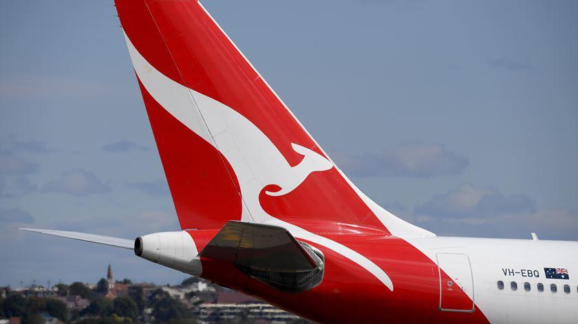 Vulnerabilidade informática no site da Qantas expôs dados de passageiros. Foto: Dan Himbrechts/EPA