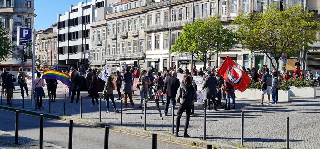 Manifestação contra o Racismo no Porto. Foto: Cristina Branco/RR