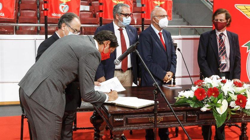 Tomada de posse de Rui Costa como presidente do Benfica. Foto: SLB