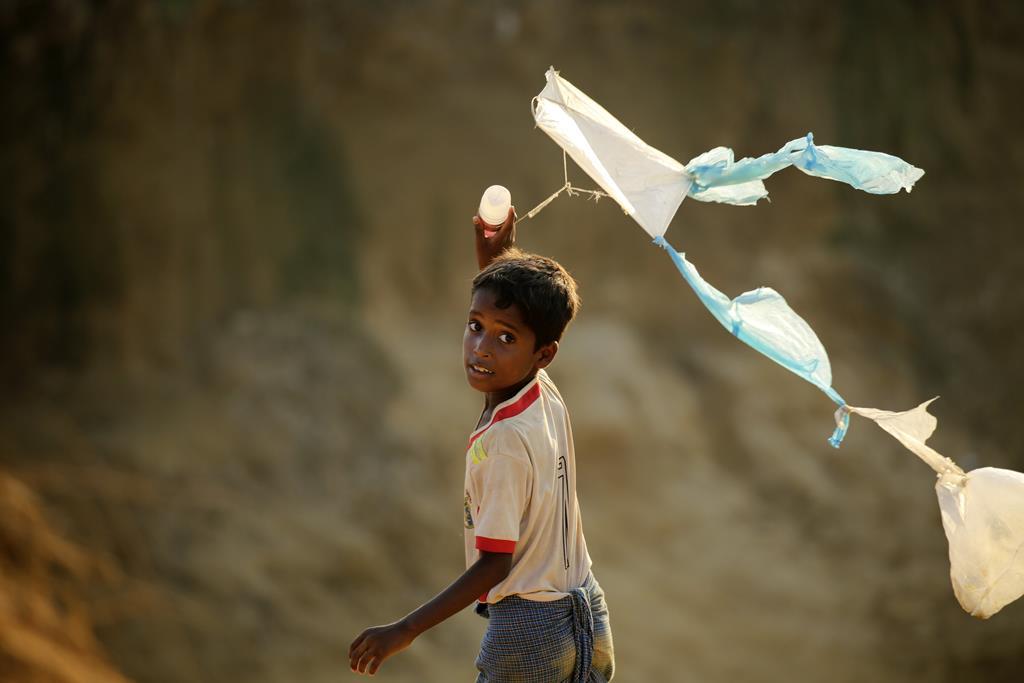 Refugiado rohingya no Bangladesh. Foto: Abir Abdullah/EPA