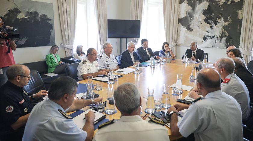 Primeiro-ministro reuniu-se com vários responsáveis. Foto: Mário Cruz/Lusa