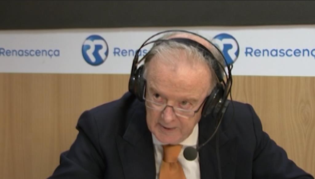 """Jorge Sampaio no programa """"A Três Dimensões"""". Foto: RR"""