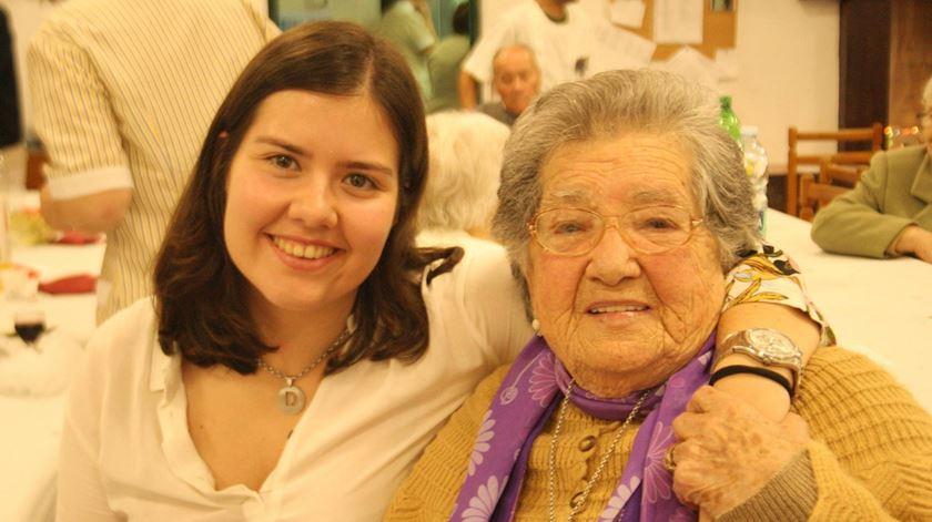 Uma idosa utente da Santa Casa da Misericórdia de Évora. Foto: Facebook/SCME