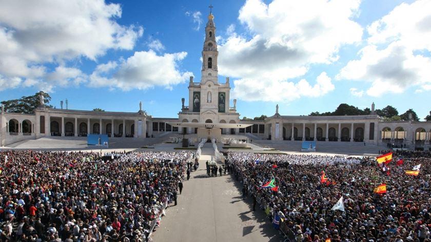 Este ano, não haverá peregrinos no recinto do Santuário de Fátima. Foto: Santuário de Fátima (arquivo)
