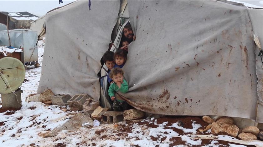 Refugiados sírios. Foto: Screenshot vídeo UNifeed