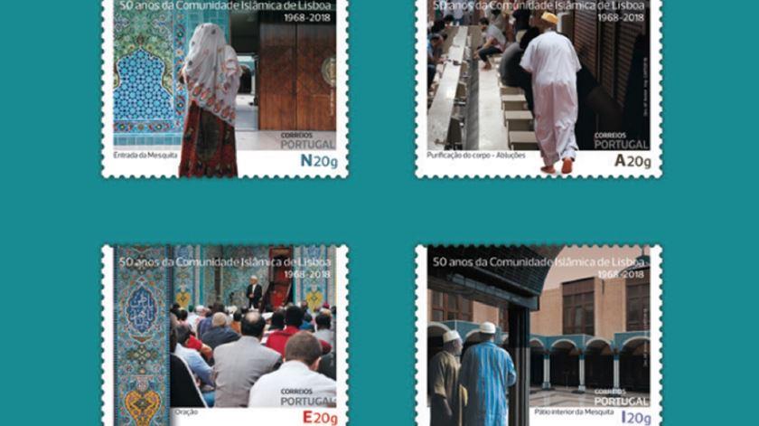Selos alusivos à Comunidade Islâmica de Lisboa. Foto: CTT