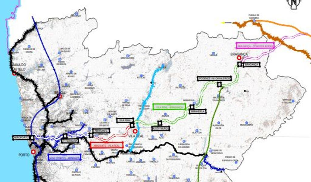 Projeto TGV entre Porto e Bragança da Associação Vale d