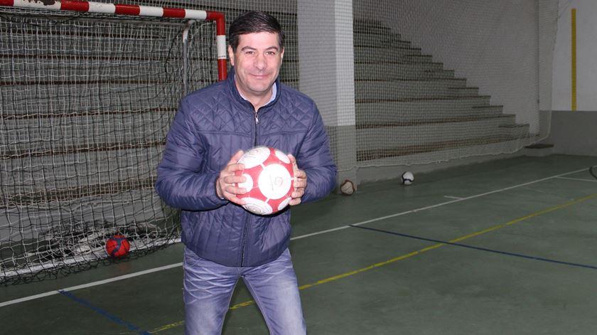 Paulo Gomes, treinador da equipa dos padres da Guarda. Foto: Liliana Carona/RR