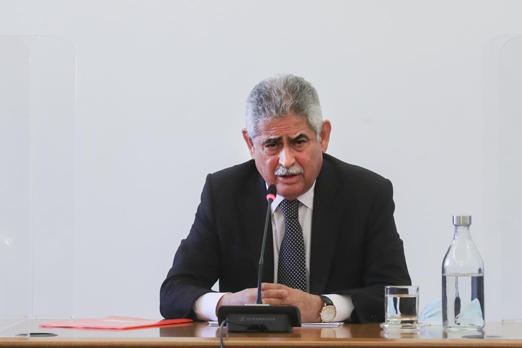 Luís Filipe Vieira na Comissão Eventual de Inquérito Parlamentar às perdas registadas pelo Novo Banco Foto: Tiago Petinga/Lusa