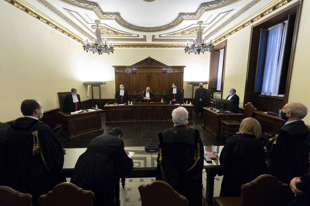 Tribunal do Vaticano julga Angelo Caloia, ex-Presidente do Banco do Vaticano (Instituto das Obras Religiosas). Foto: Vaticano