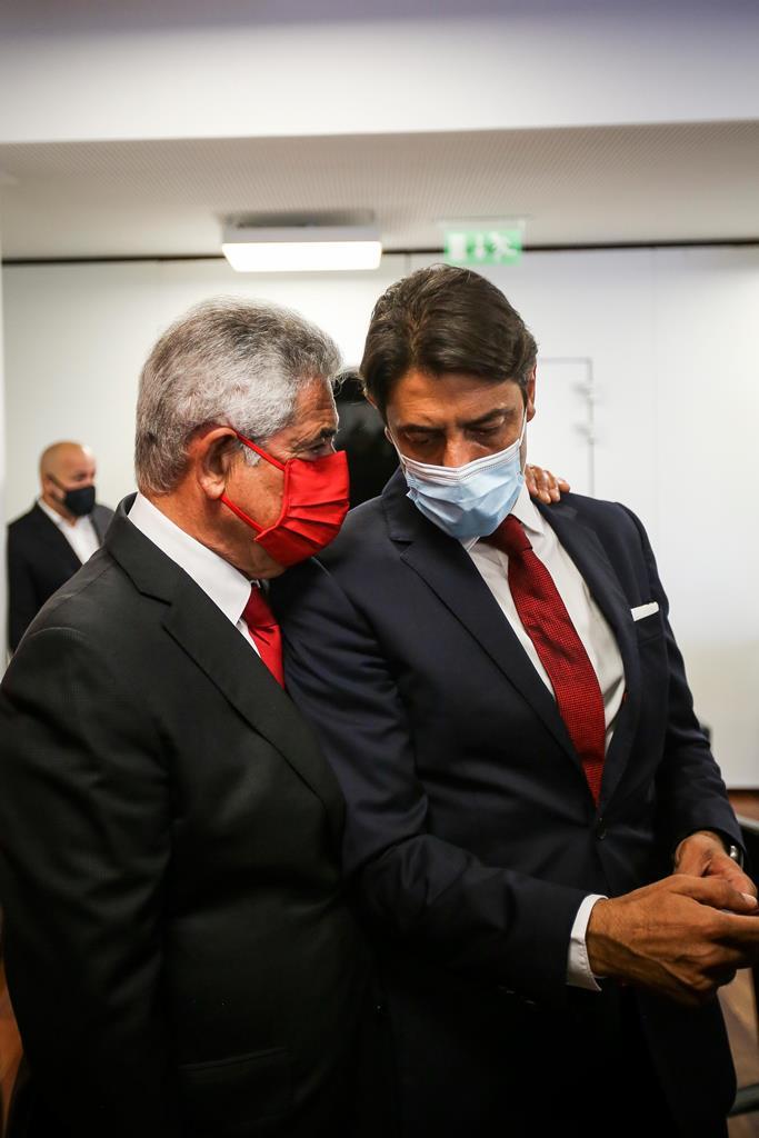 Rui Costa deve suceder a Luís Filipe Vieira durante a suspensão de funções. Foto: Nuno Fox/Lusa