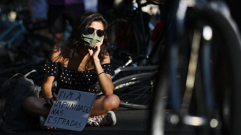 Vigília contra os atropelamentos em Lisboa. Foto: José Sena Goulão/Lusa