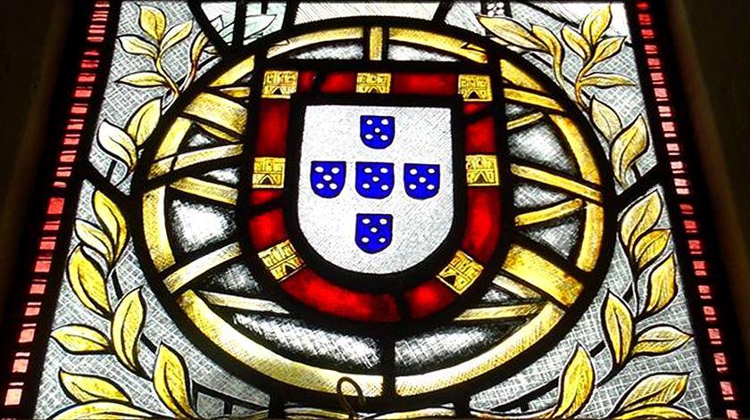 Pormenor do vitral que comemora os portugueses na Primeira Grande Guerra. Foto: DR
