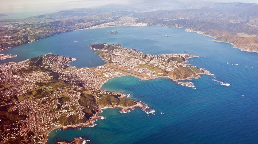 Vista aérea da cidade de Wellington, na Nova Zelândia. Foto: Wikicommons
