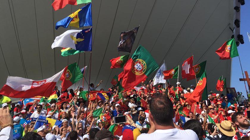 Jovens portugueses festejam o facto de Lisboa ter sido escolhida para acolher a Jornada Mundial da Juventude em 2023. Foto: DR
