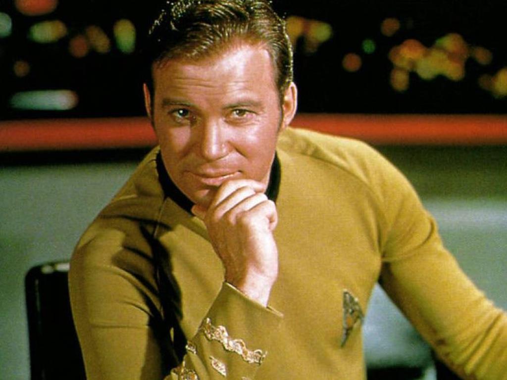 """William Shatner, capitão Kirk de """"Star Trek - Caminho das Estrelas"""". Foto: DR"""